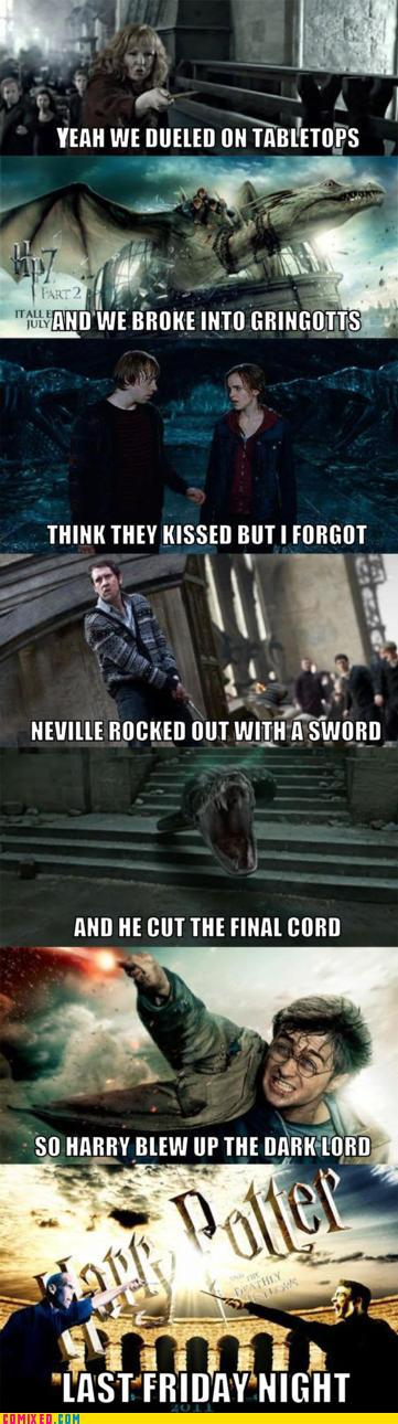 Last Friday Night at Hogwarts by cloversxoox