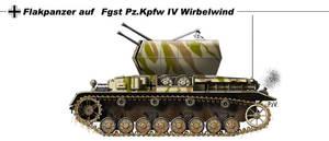 Flakpanzer IV Wirbelwind by nicksikh