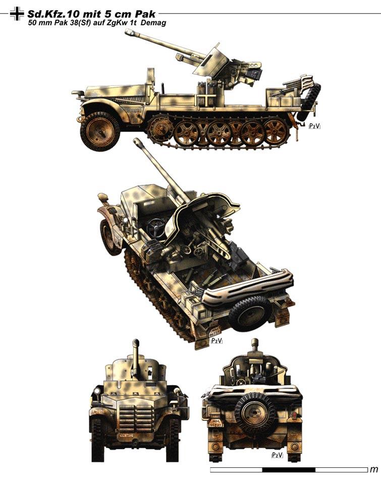 Sd.Kfz.10 mit 5 cm Pak 38 by nicksikh