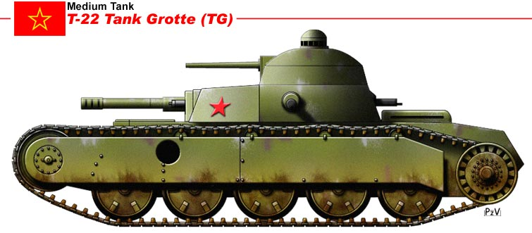 T-22 Tank Grotte TG by nicksikh