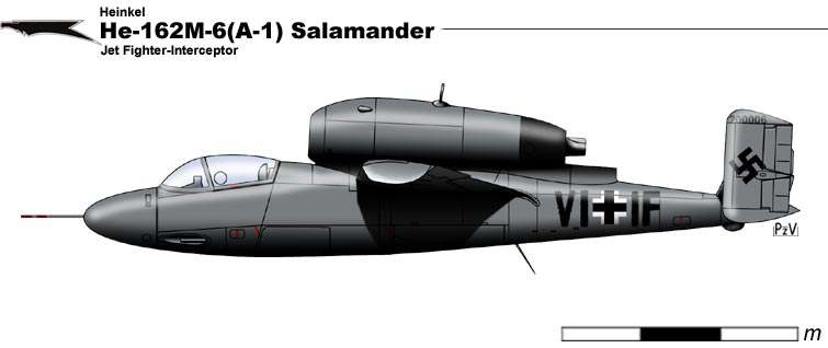 He-162M-6 A-1 Salamander by nicksikh