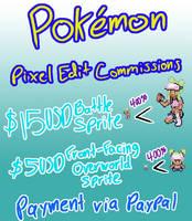 OPEN! Pokemon Pixel Edit Commission Sheet by TheSLunarWalker