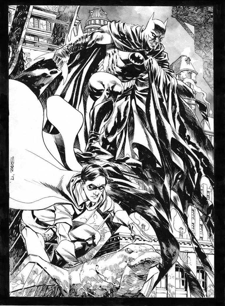Batman and Robin (private commission) by StazJohnson