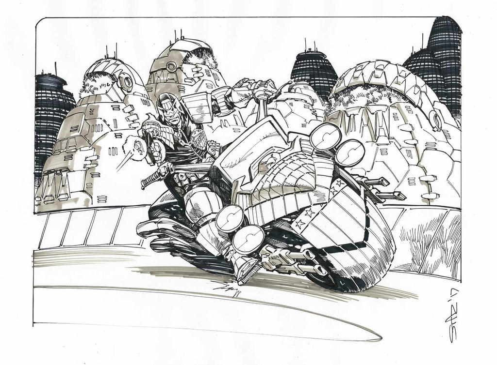 Judge Dredd : private commission by StazJohnson
