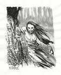 Vampire, inktober sketch.