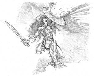 Warrior Wonder Woman by StazJohnson