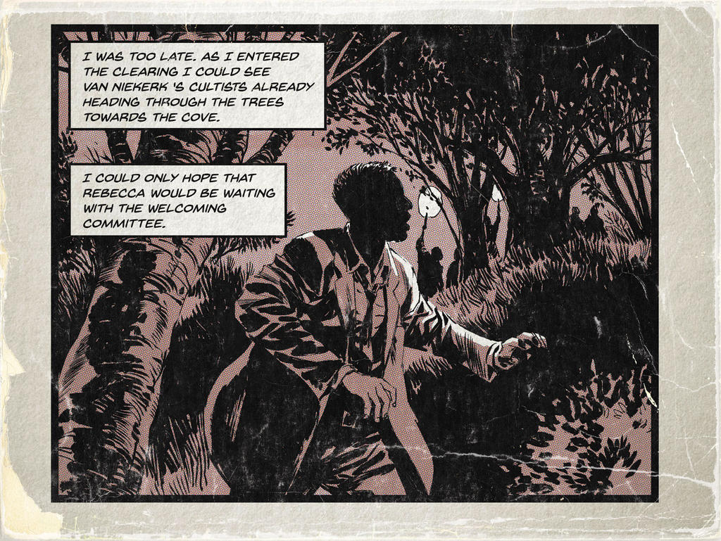 Noir in the woods (Victor comic stylee) by StazJohnson