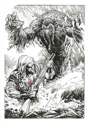Ulysses Bloodstone and Man-Thing by StazJohnson