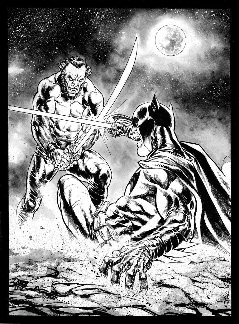 Batman v Ra's Al Ghul private commission. by StazJohnson