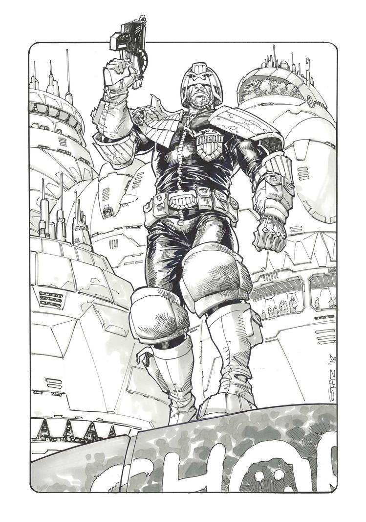 Judge Dredd by StazJohnson