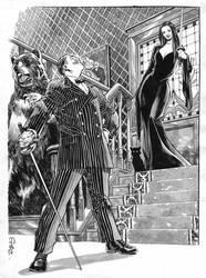 Gomez and Morticia Addams, private commission. by StazJohnson
