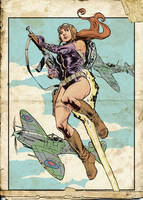 Rocket Girl, flying with Spitfires by StazJohnson
