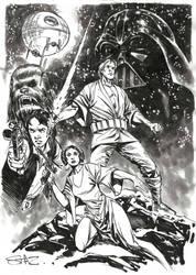 Star Wars day sketch. by StazJohnson