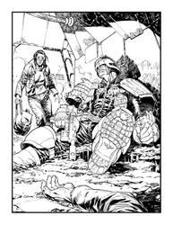 Judge Dredd shot down. by StazJohnson