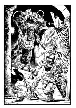 Squadron Leader Petit vs the Nazi Cyborg Gorilla.