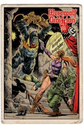 Petit v Nazi Gorilla Cyborg,'vintage' trading card