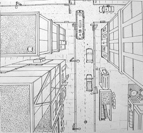 one point perspective by cparks on DeviantArt
