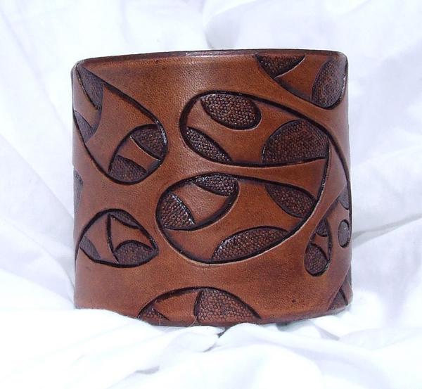 Leather bio cuff by leatheroo on deviantart