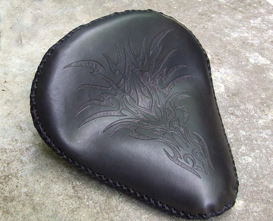 Tribal dragon head seat by leatheroo on deviantart