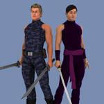 X-Men - Kwannon and Psylocke