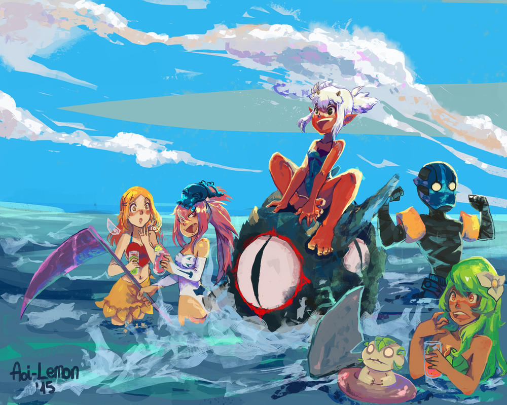 Concurso fanart de verano by Aoi-Lemon