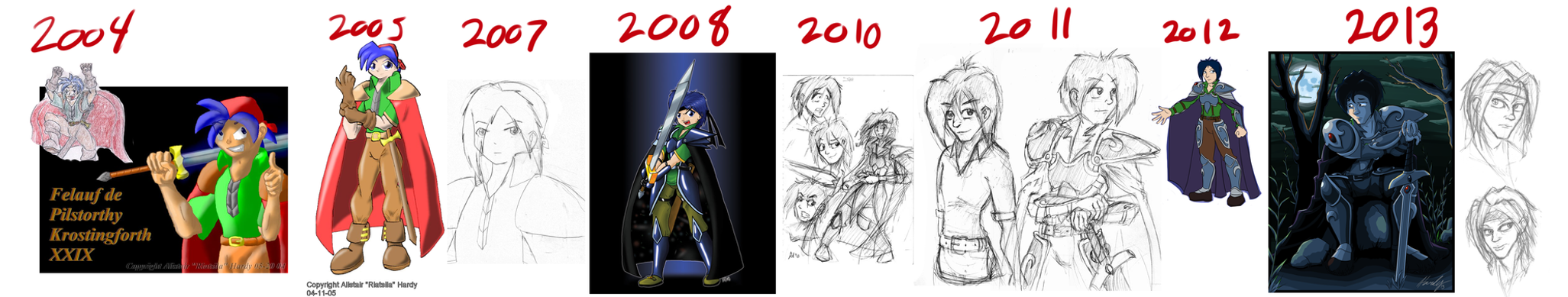 Felauf Art Progression by Riatsila