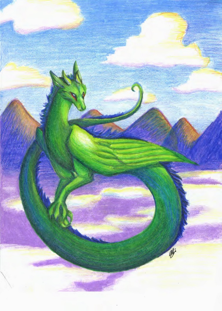 The Sky Dragon by Yintheicewolf