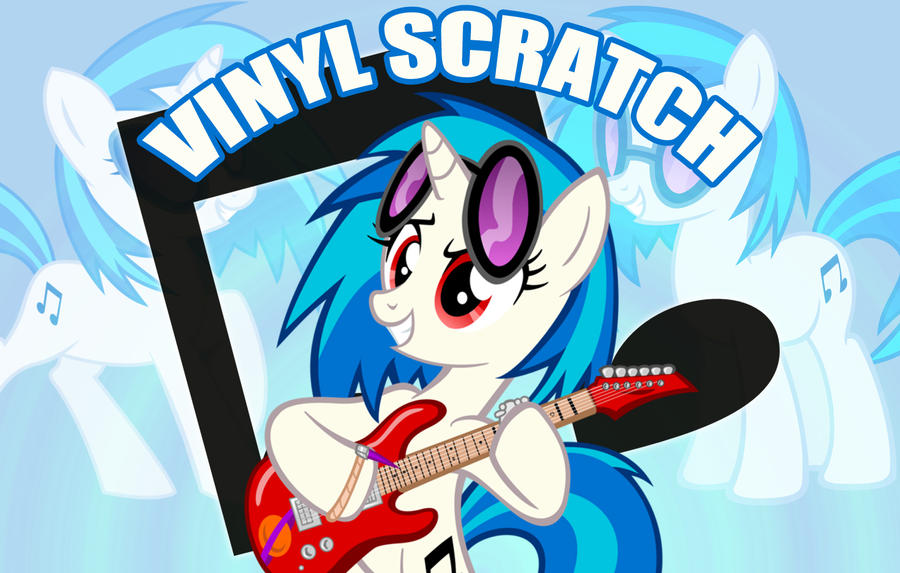 Vinyl Scratch Wallpaper by MrWednesday7