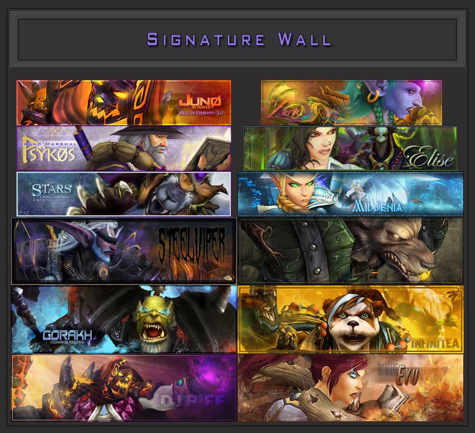 Signature Wall: 2017