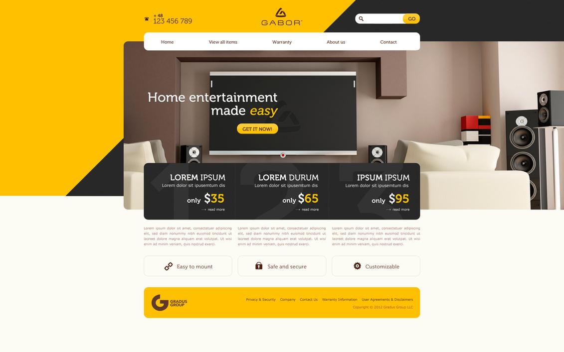 Home entertainment by Sansana