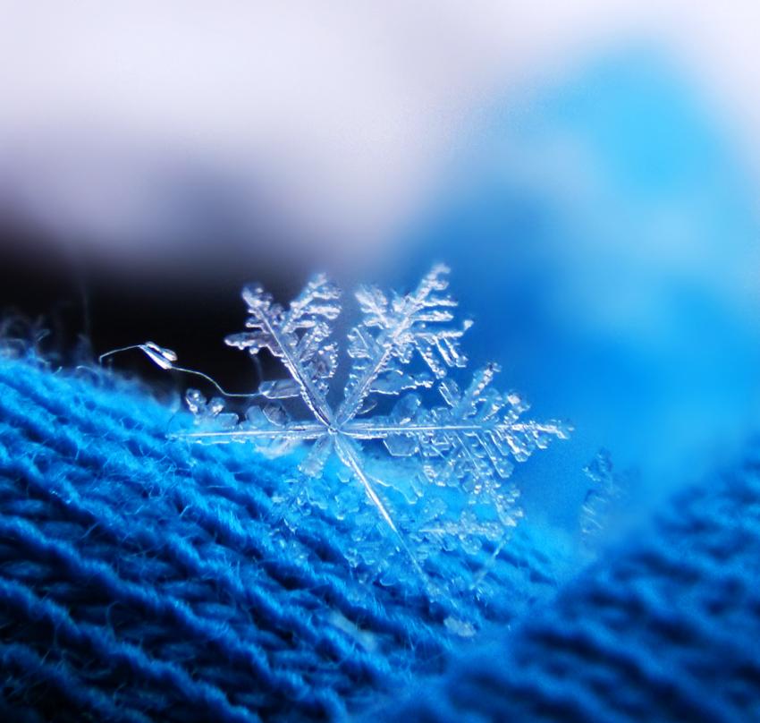 Blue Snowflake by Birthstone