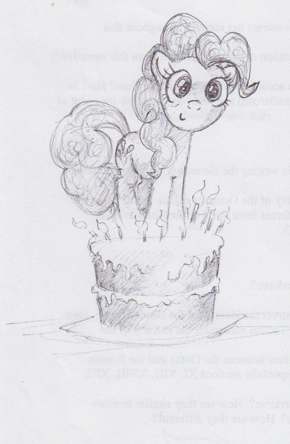 Pinkie Pie, Sketch by FrostieFilly
