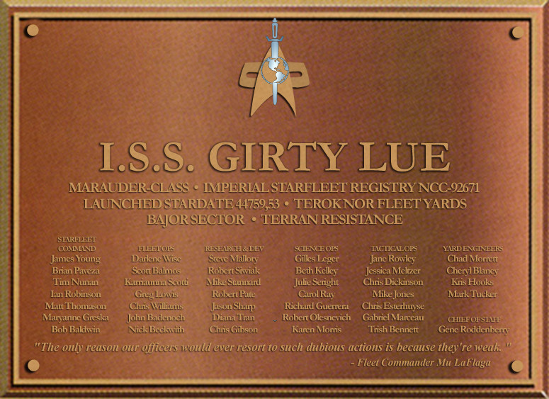 ISS Girty Lue Dedication Plaque by docwinter