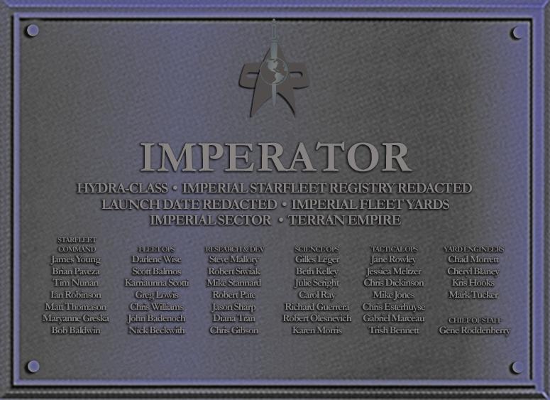 Imperator Dedication Plaque by docwinter