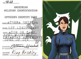 1st Lieutenant Athena Heinkel Miltiary ID 2