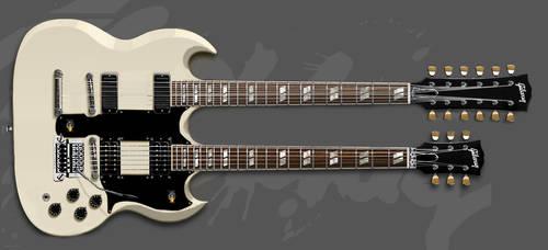 Steve Clark's White Gibson EDS-1275 Twin-Neck by Zachtan1234