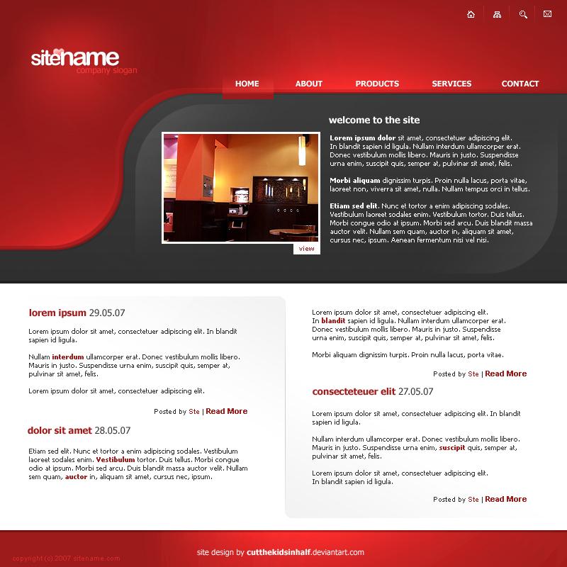 Red Web Interface by cutthekidsinhalf