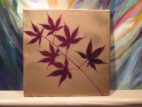 Maroon Spray Painted leaves final