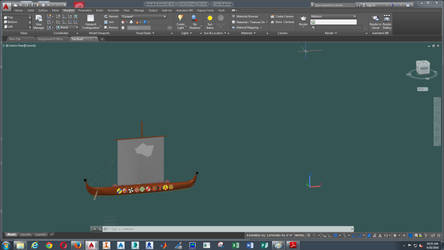 Side View of Viking Boat