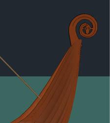Head of Viking Boat