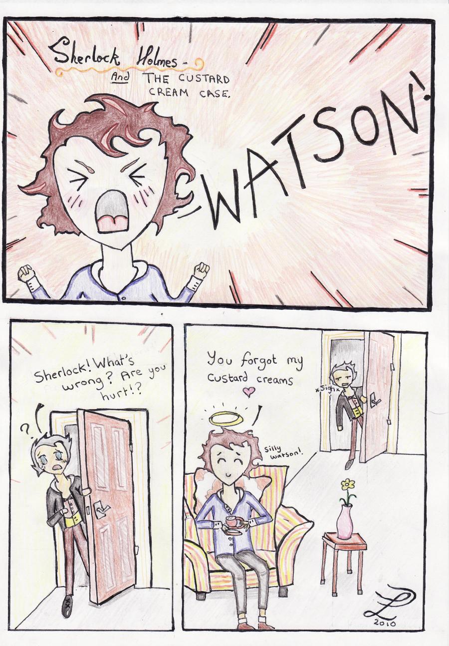 Sherlock Holmes Funny Comic Lid The Squid