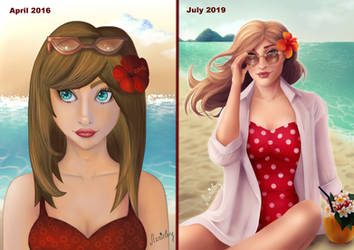 Draw this again Summertime by Stanielary