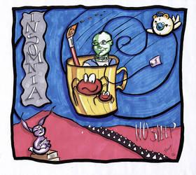 Self portraite- insomnia by the-tea-zombie