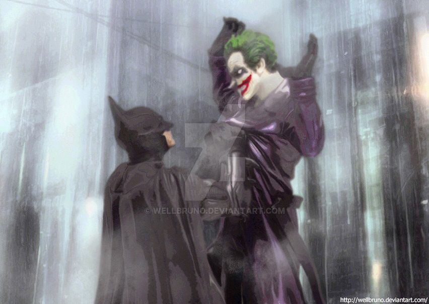 Bat and Joker by wellbruno