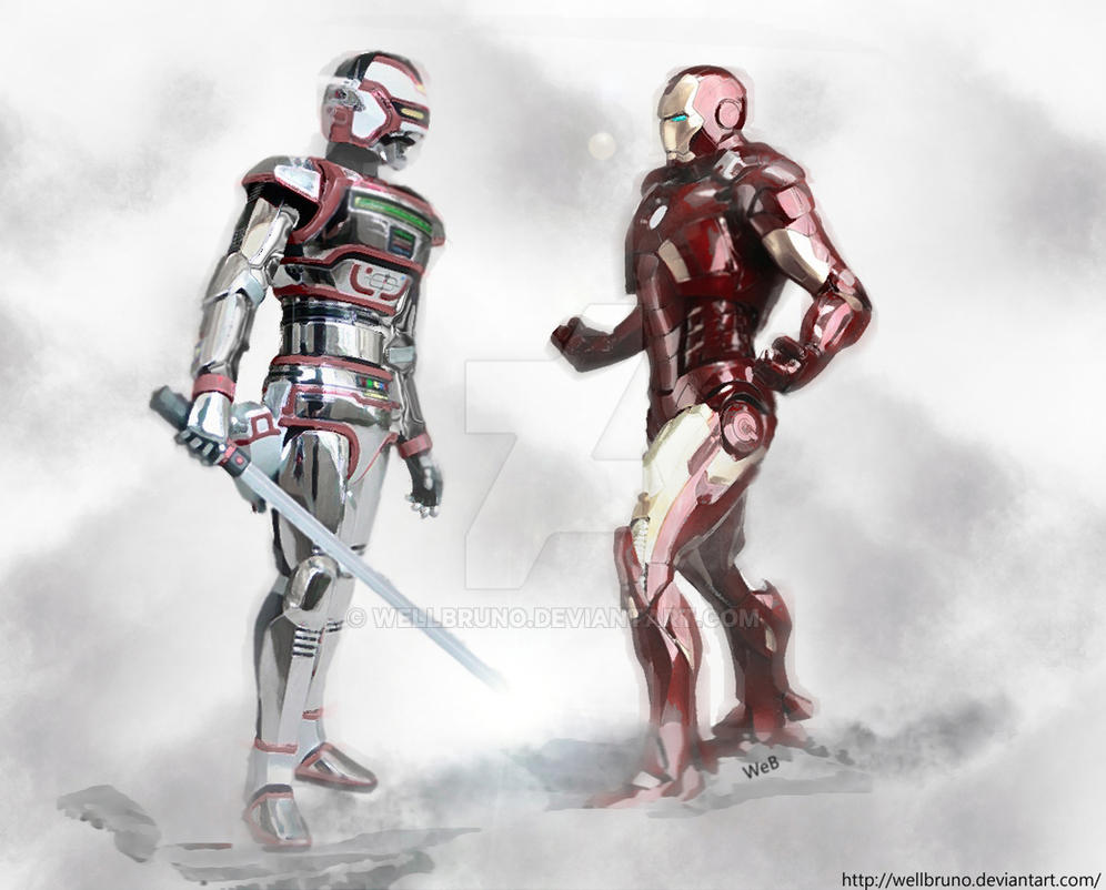 Iron man and Jaspion by wellbruno