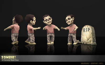Mobile Game Character - Zombie by Art-by-Smitty