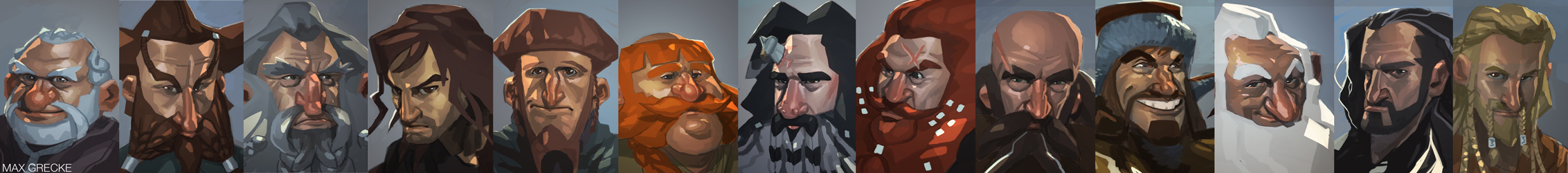 THE HOBBIT: all 13 dwarves by MaxGrecke