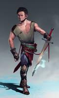 Male warrior concept