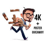 4K and Poster giveaways