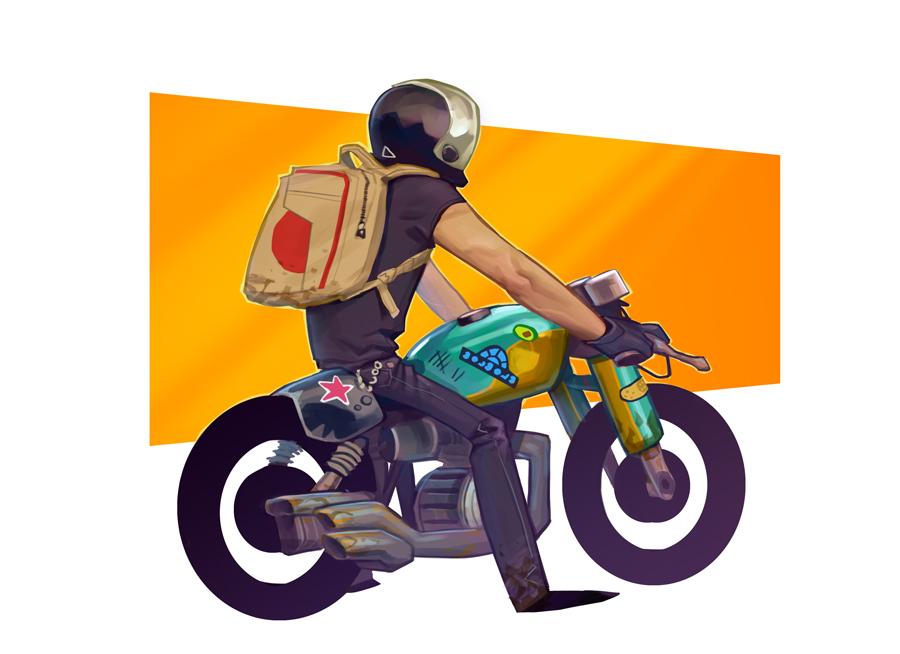 Biker dude by MaxGrecke